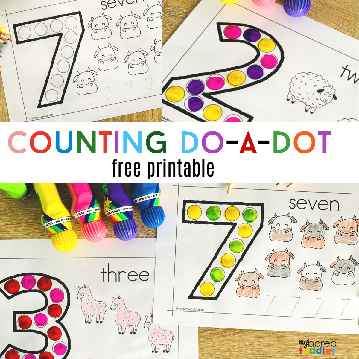 Counting Do A Dot Printable