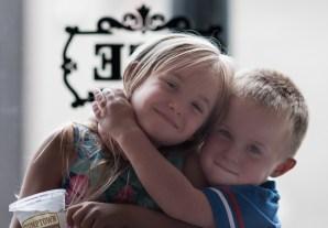 kids in front of window