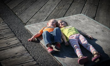 Seattle Pier Two Kids