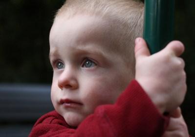 little boy close up