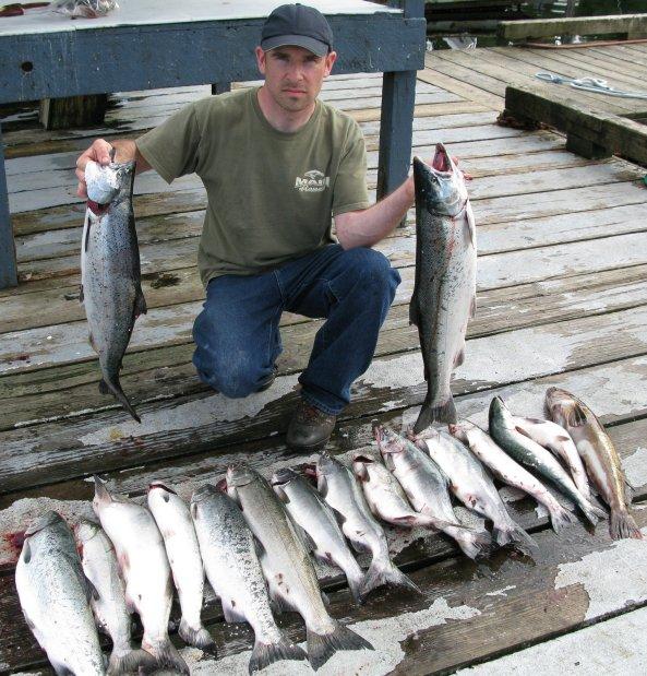 silver salmon catch Knudsen Cove