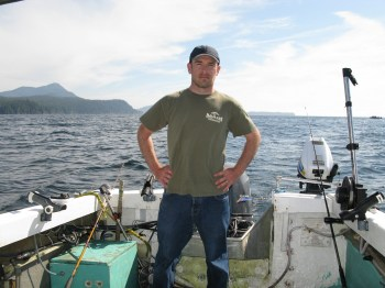 man on fishing boat in Ketchikan
