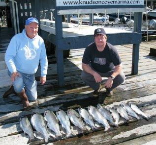 coho salmon catch Knudsen Cove