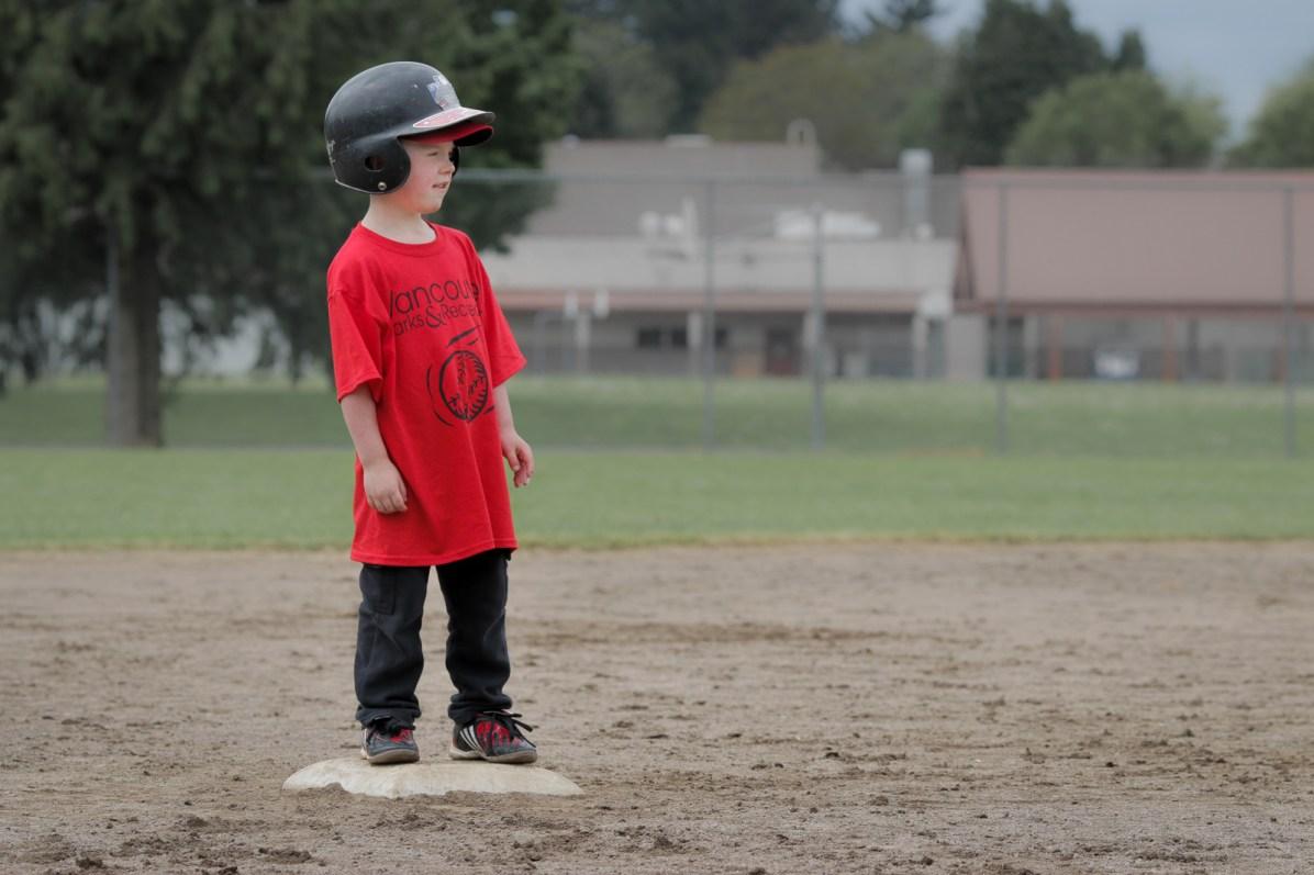 little boy on base