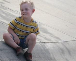 evan on curb