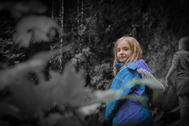daughter in woods