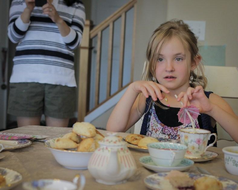 girl at birthday party