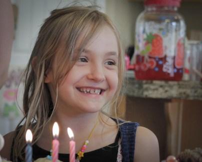 little smiling birthday girl