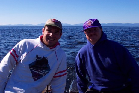 scott and Eric on boat in Ketchikan