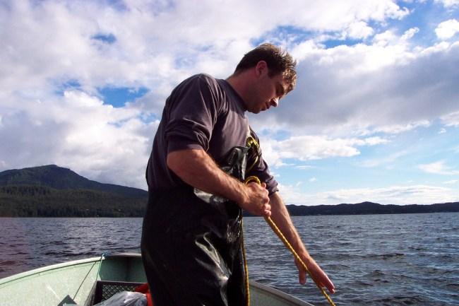 pulling shrimp pot Ketchikan