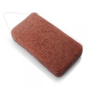 éponge konjac corps argile rouge