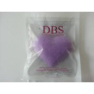 éponge konjac coeur à la violette sachet