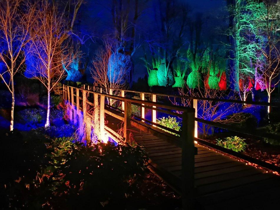 Ogrody Kingston Lacy wieczorem