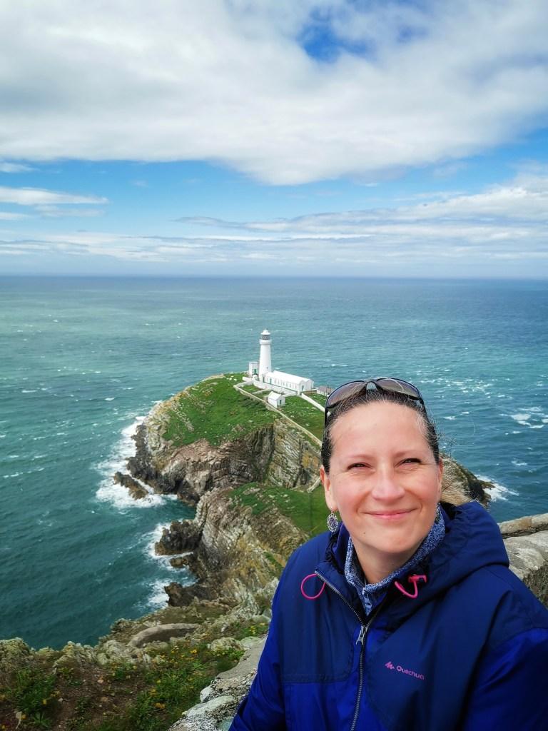 Anglesey Holy Island i widok na latarnie