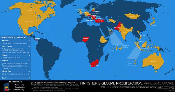 FinFisher global proliferation - Citizen Lab (April 2013)