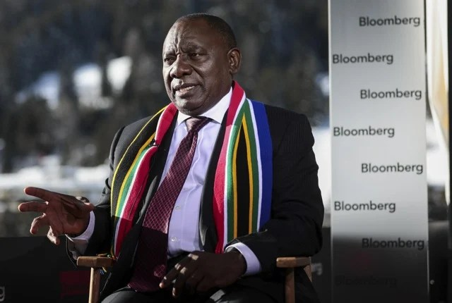South African President Cyril Ramaphosa said his campaign to become leader of the ruling ANC last year received a payment from a firm with links to his son and that he previously and inadvertently gave incorrect information about it to parliament. The donation is being returned.