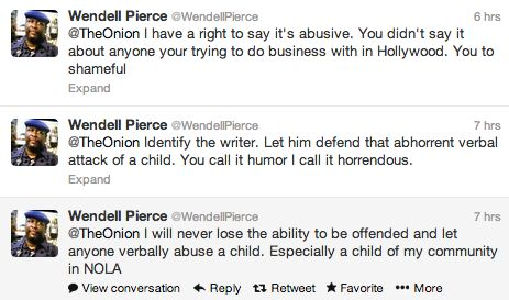 Wendell Pierce On The Onion C Word