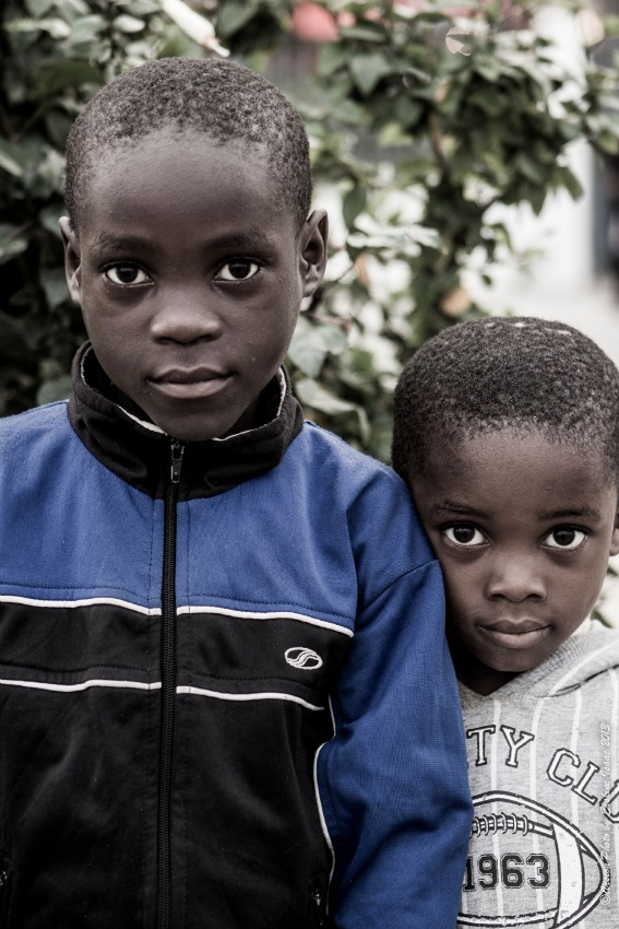 Two black boys with beautiful eyes