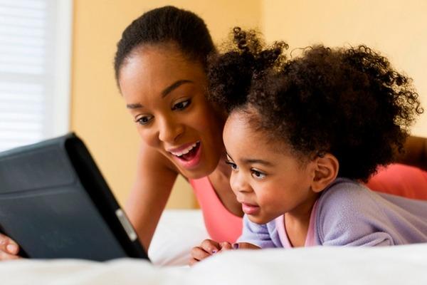 Black children on iPad Digital Literacy