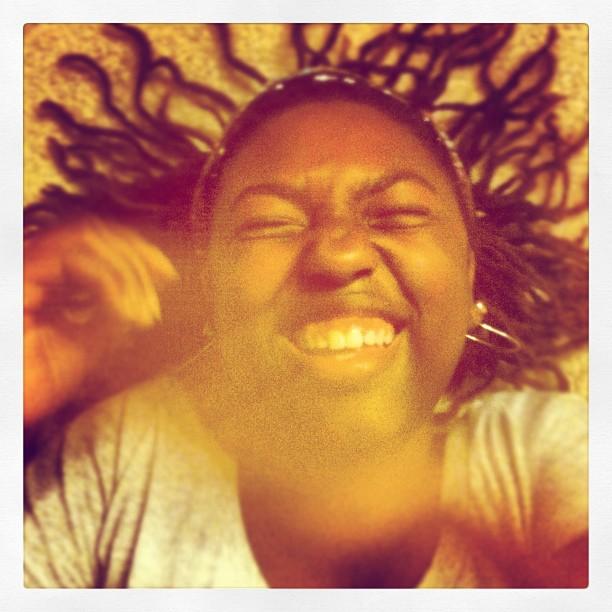 Black Teenage Girl Laughing