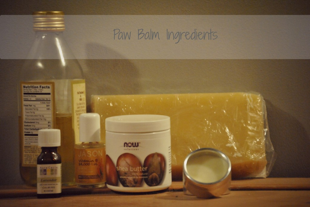 Ingredients needed for homemade paw balm ingredients