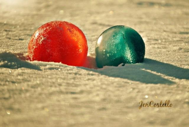 Frozen water ballons
