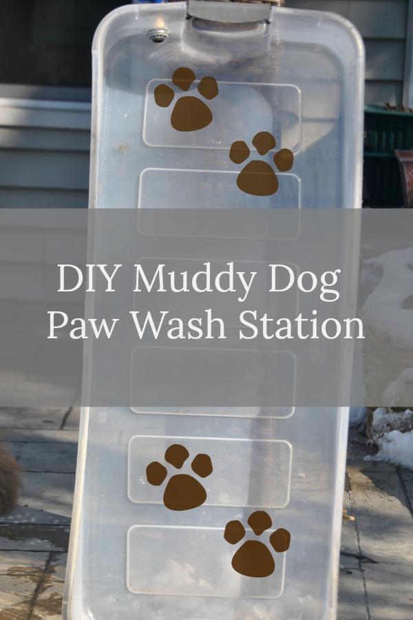 DIY Muddy Dog Paw Wash Station