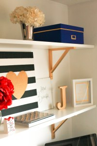Home Office DIY Shelves | Indianapolis Lifestyle Blog