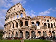 이탈리아 로마 콜로세움에서 사진촬영
