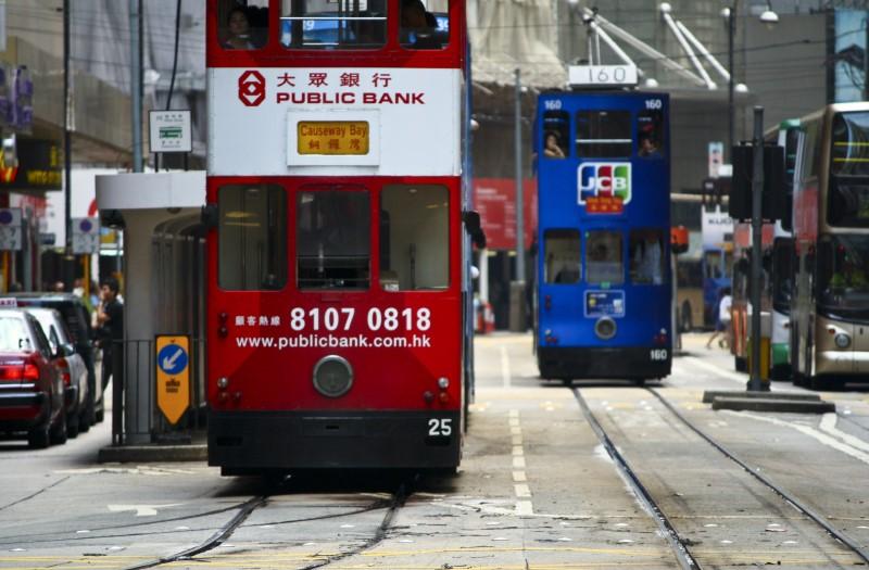 홍콩에서 트램 타보기
