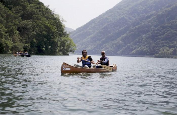 물레길에서 유유자적 카누 타기