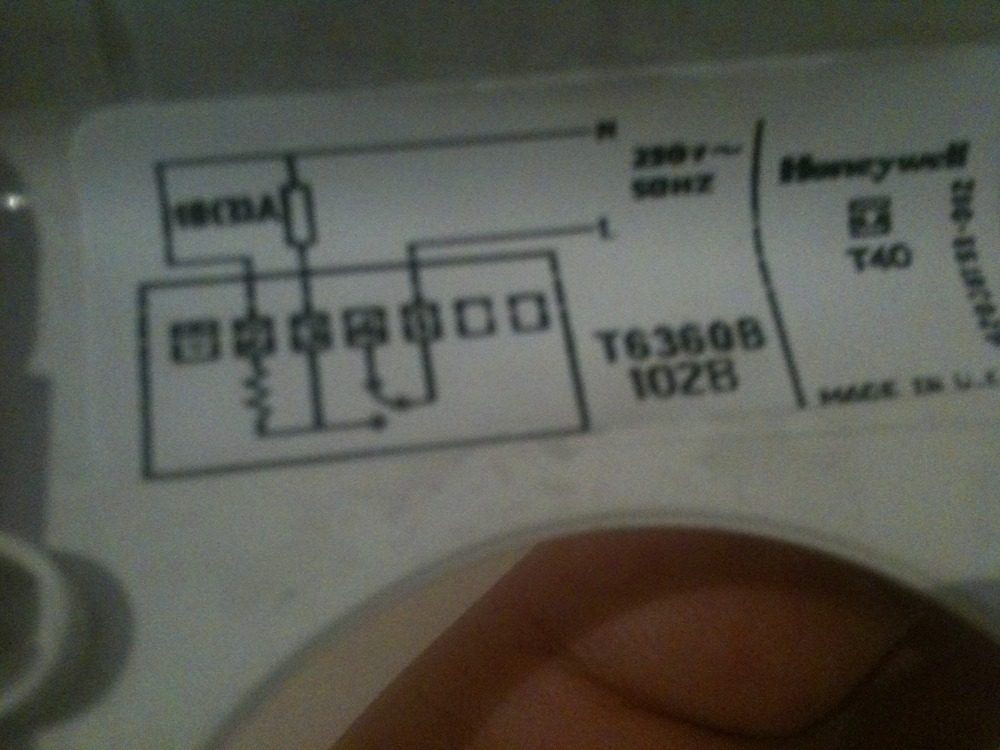 honeywell dt90e digital room thermostat wiring diagram ford focus wire replace old mechanical diynot forums