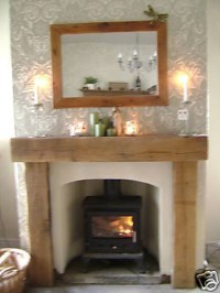 Fireplace for wood burning stove,