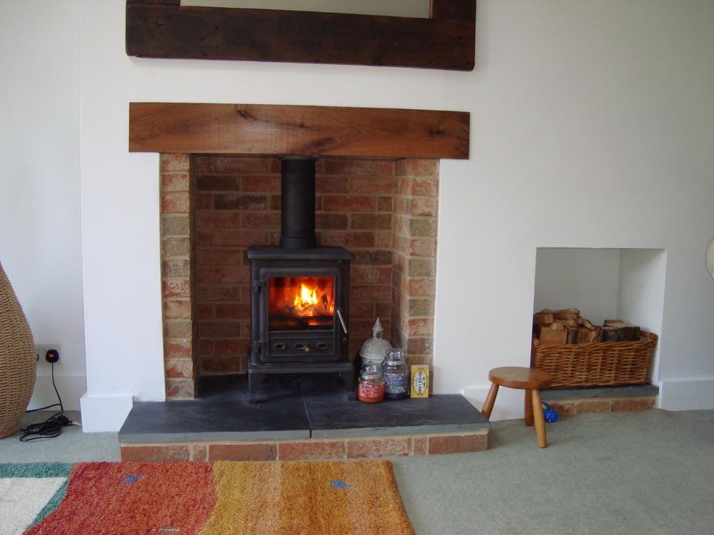 Fireplace On Pinterest Brick Fireplaces Wood Burning