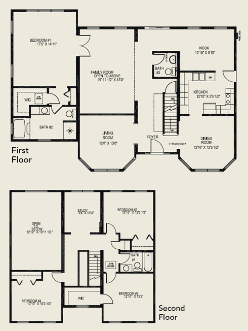 4 bedroom 3 bathroom 2 story house plans for 4 bedroom 3 bath floor plans