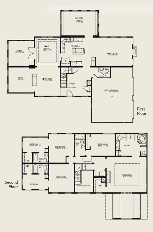 5 Bedroom House Plans Two Story