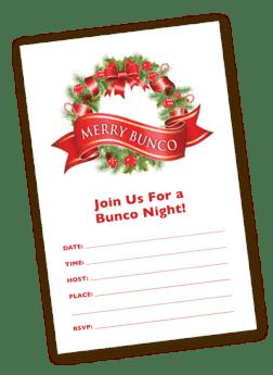 Christmas Bunco Invitation