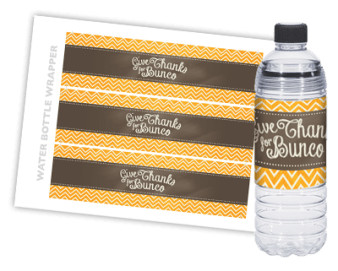 Thanksgiving Decoration Set - water bottle wrappers