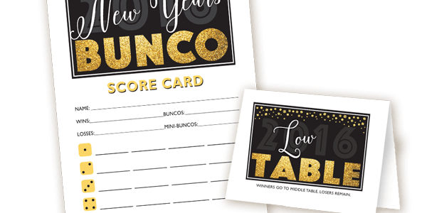 New Years Bunco