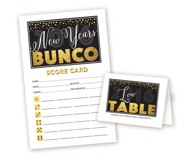 New Years Bunco