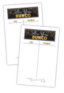 New Year Bunco Printable