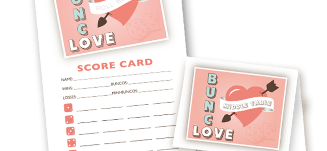 Valentine Bunco Set
