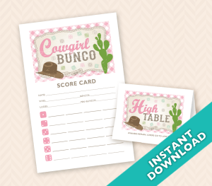 Cowgirl Bunco Themes