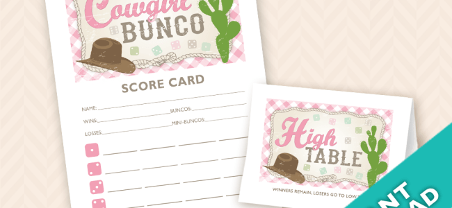 Cowgirl Bunco Theme