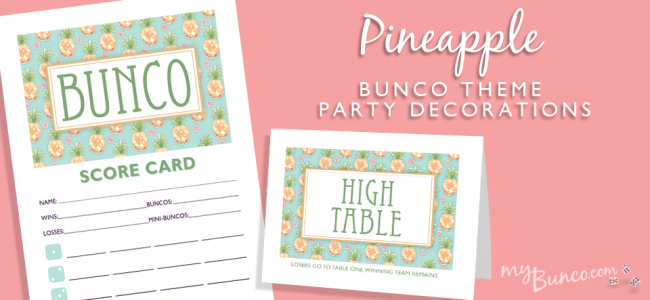 Pineapple Bunco