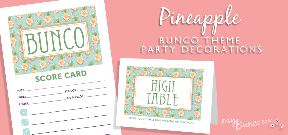 Designer Series Pineapple Bunco Set