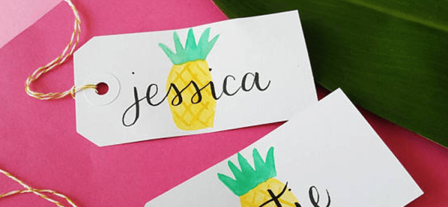Handmade Pineapple GIft Tags