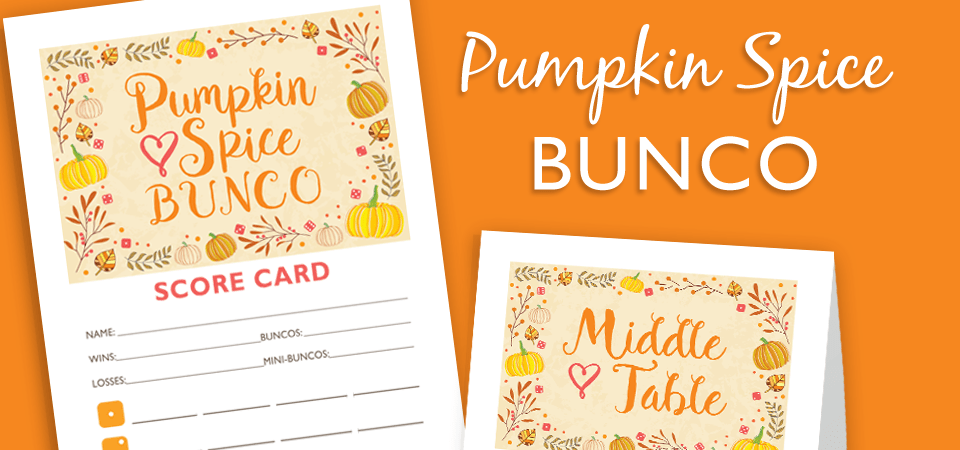 Pumpkin Spice Bunco Party