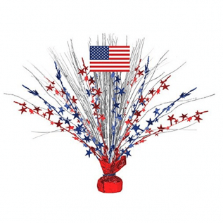 Large Patriotic Foil Spray Centerpiece 4th of July Party Table Decoration