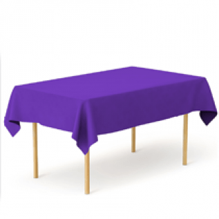 3-Pack Purple Heavy Duty Plastic Tablecloth